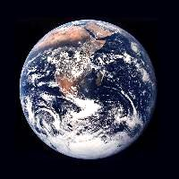 NASA photo of the Earth from space.